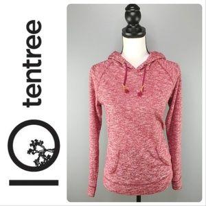 TenTree | marled dark cherry & cream hoodie